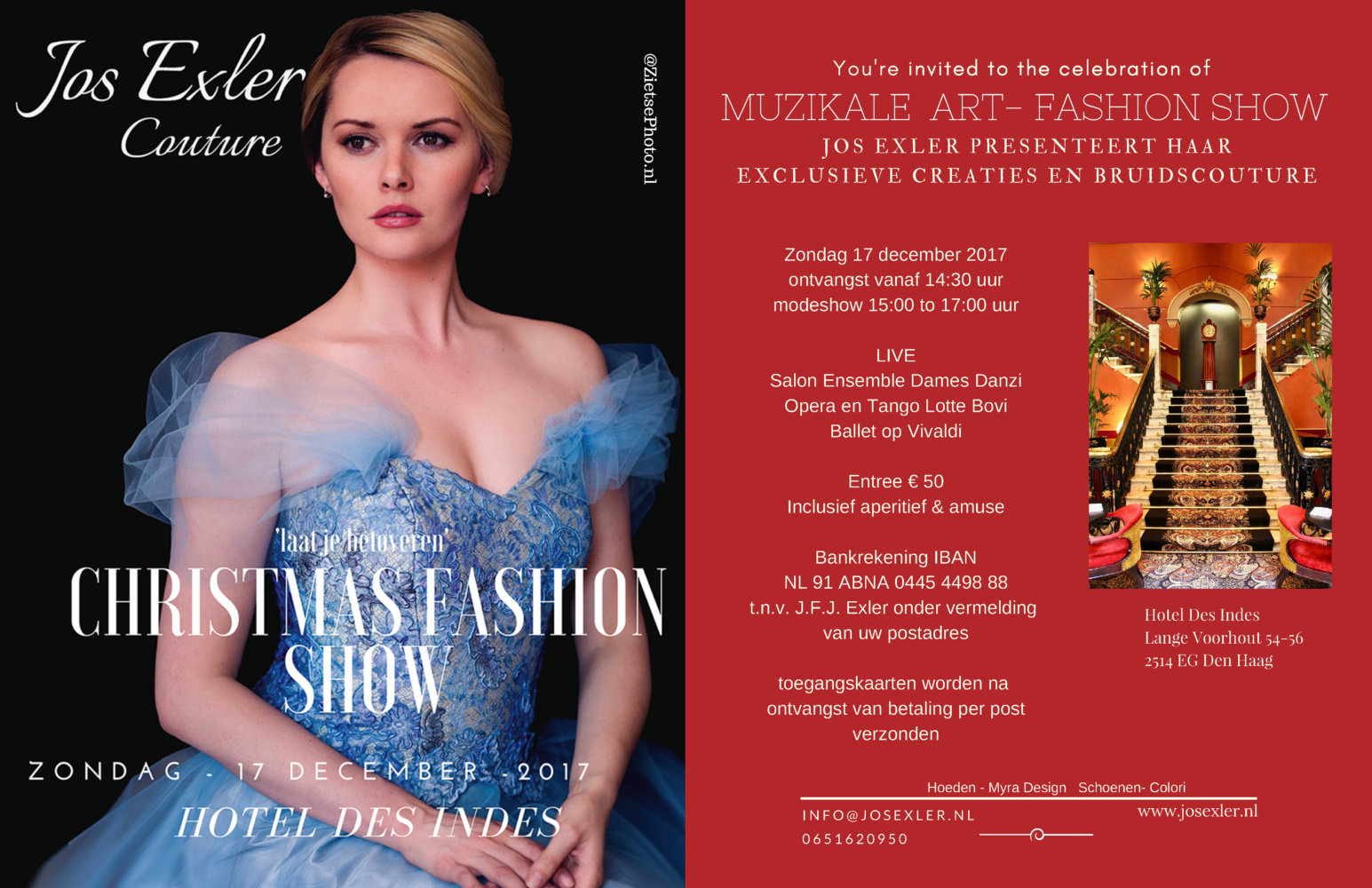 Jos Exler Uitnodiging Christmas fashionshow 17 december